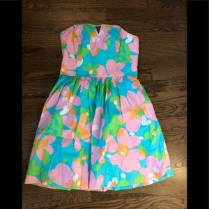 Strapless tie back Lilly Pulitzer dress